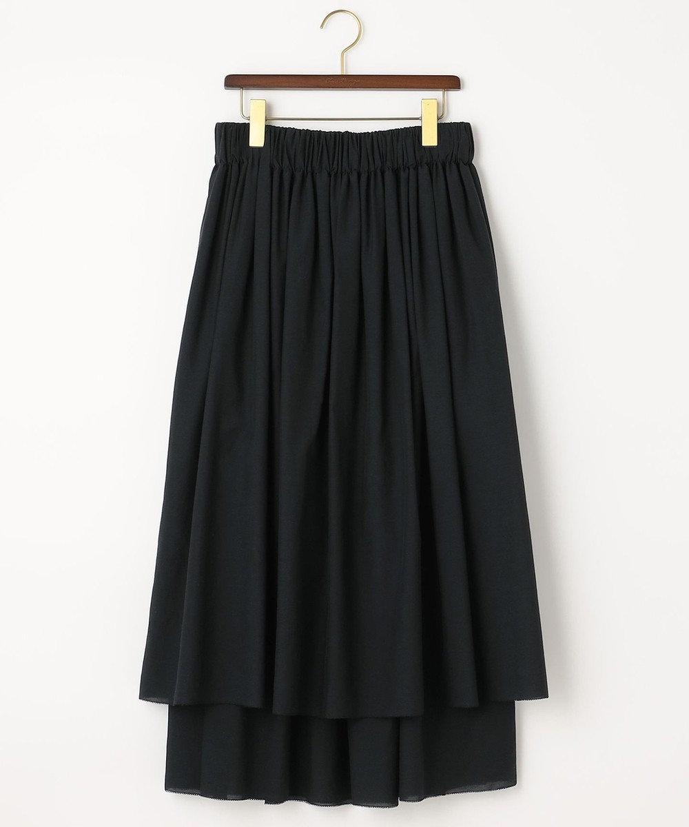自由区 【Class Lounge】タイプライター レイヤード スカート ブラック系