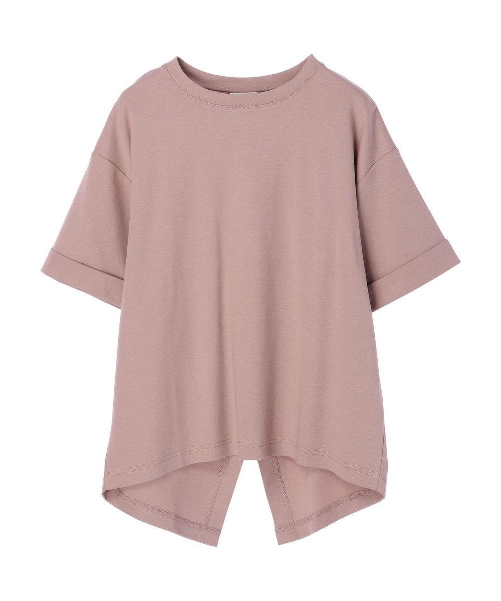 earth music&ecology スムースバックスリットTシャツ Pink