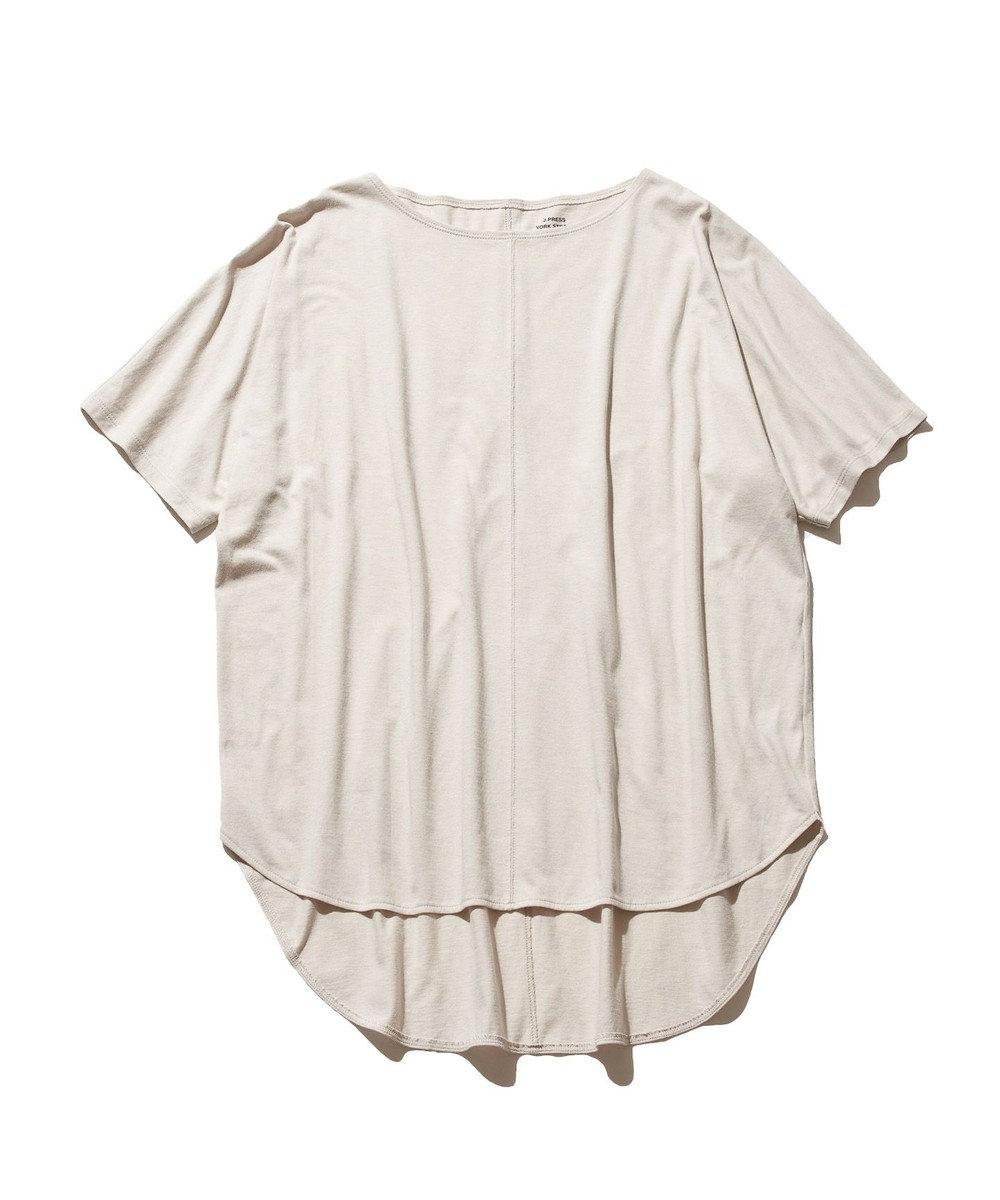 J.PRESS YORK STREET 【WOMEN】30/1 天竺 Tシャツ ベージュ系