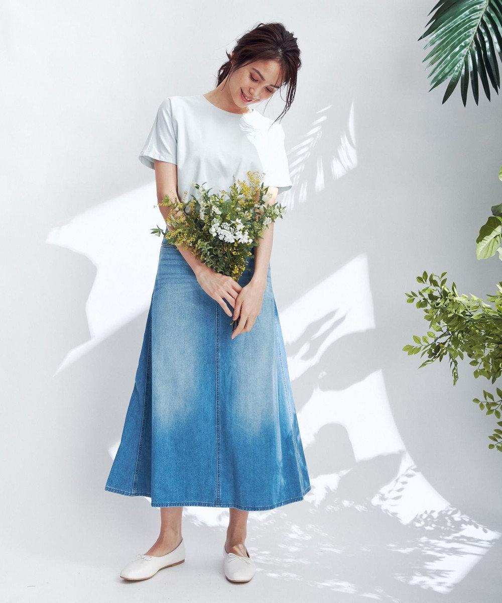 any FAM L 【定番人気】【UVケア】プレミアムベーシック Tシャツ スカイブルー系