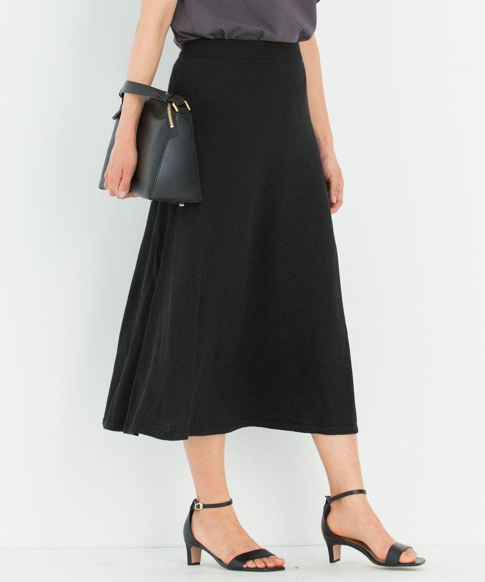 23区 L 【洗える】フレンチフラックス スカート ブラック系