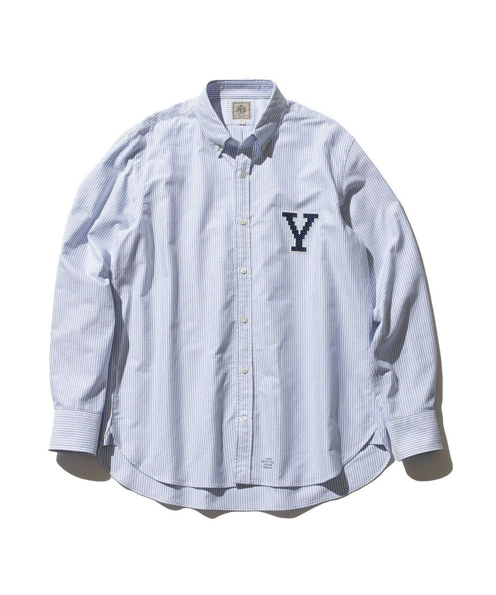 J.PRESS MEN 【J.PRESS×YALE】オックスフォードオーセンティック ボタンダウンシャツ サックスブルー系