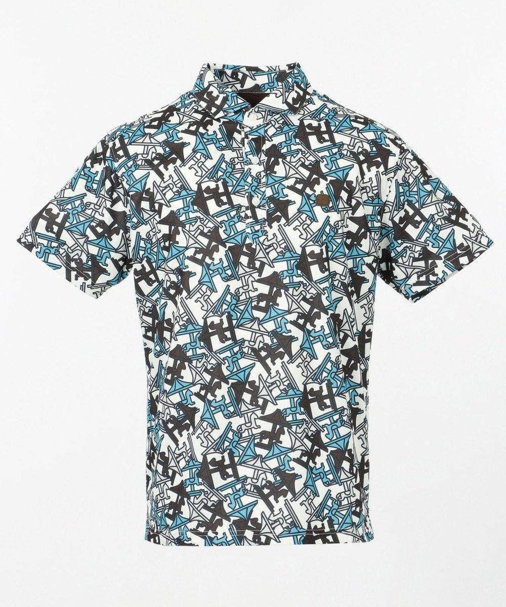 23区GOLF 【MEN】【UV/撥水】メリーゴーランド総柄ポロシャツ ダークブラウン系5
