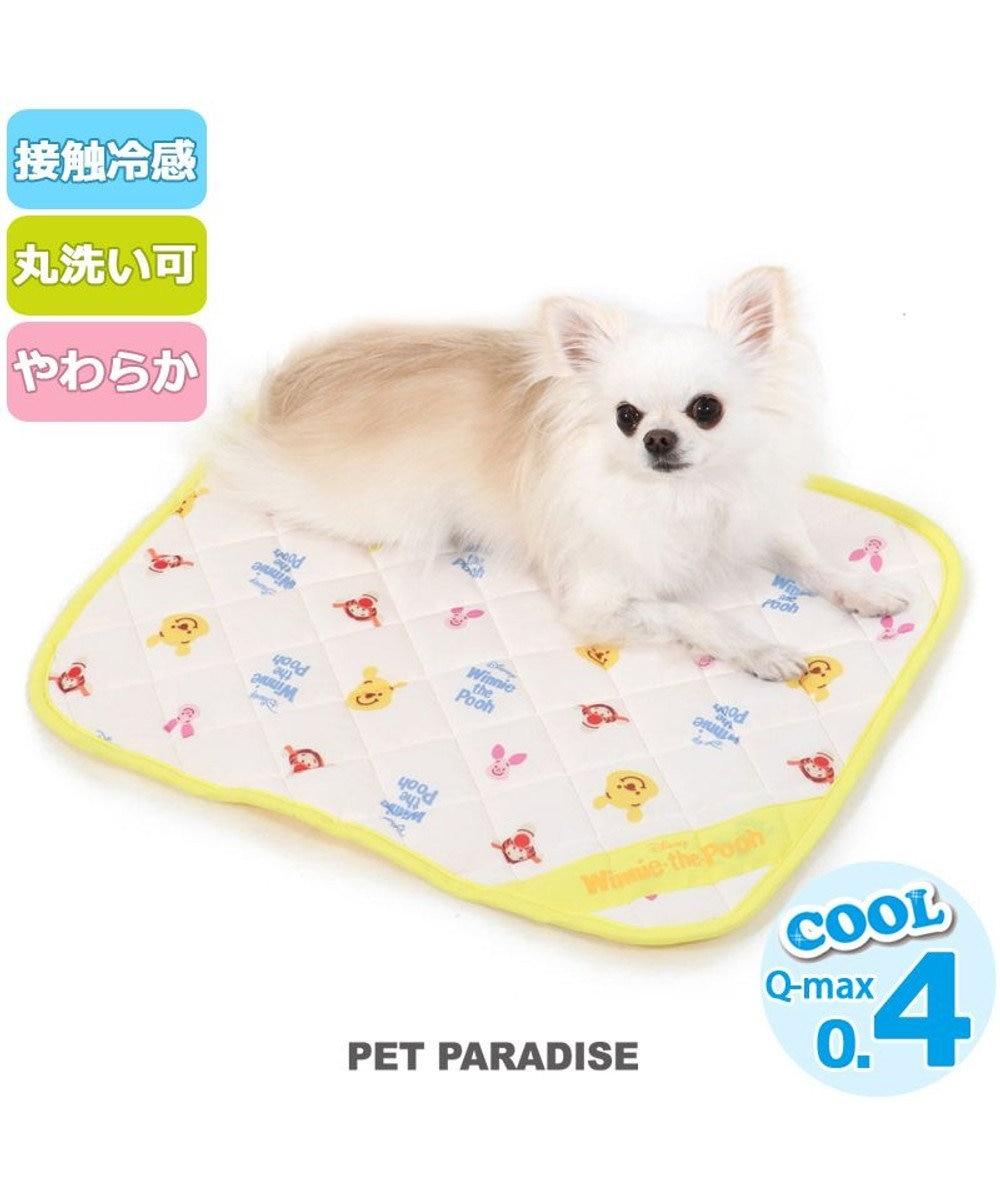 PET PARADISE ペットパラダイス ディズニー くまのプーさん 接触冷感 フレンズ柄 クールマット(48cm×40cm) 黄