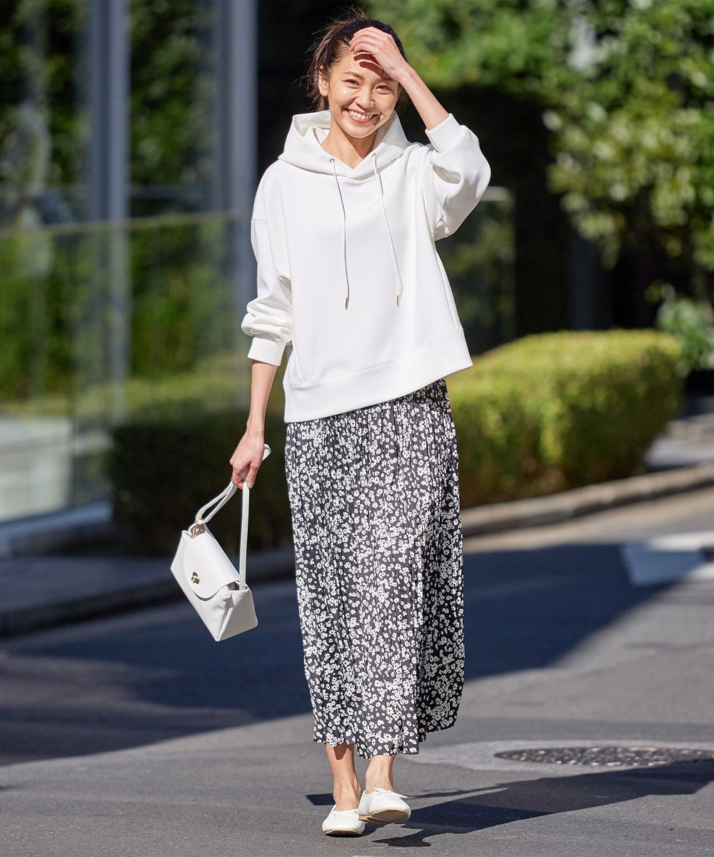 any FAM 【洗える】ドルマンパーカーフラワースカート セット アイボリー系5