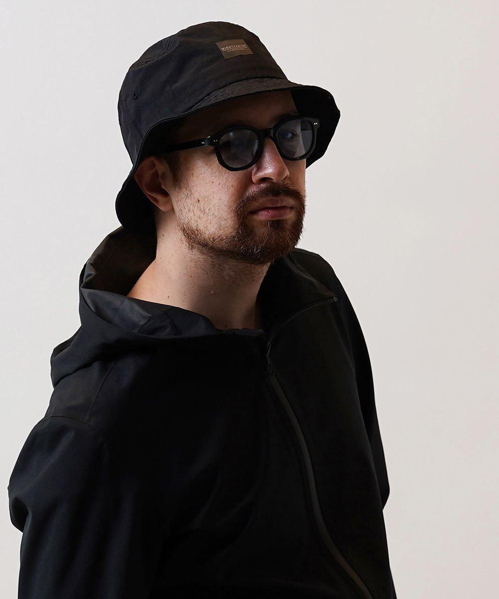Hat Homes 【Mighty Shine/マイティーシャイン】 NYLON BUCKET HAT BLACK