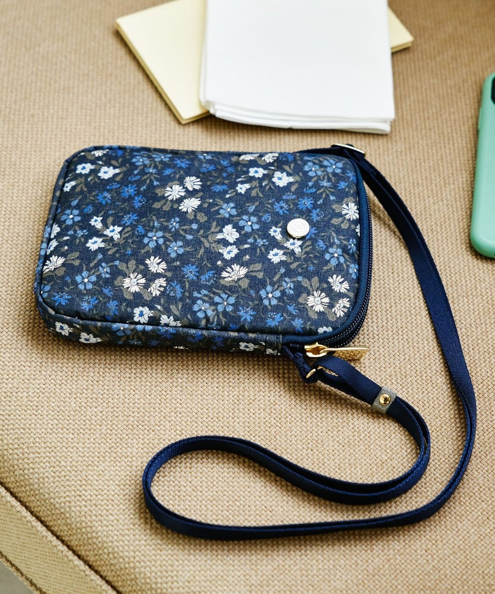 russet 《WEB限定》リバティプリントフォーンバッグ(Z-043-WEB) Navy