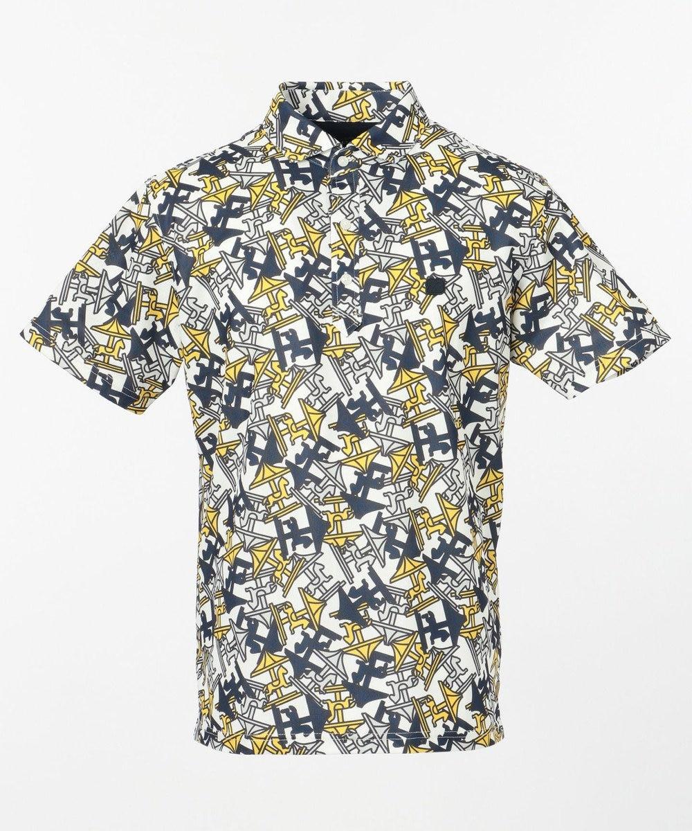23区GOLF 【MEN】【UV/撥水】メリーゴーランド総柄ポロシャツ イエロー系5