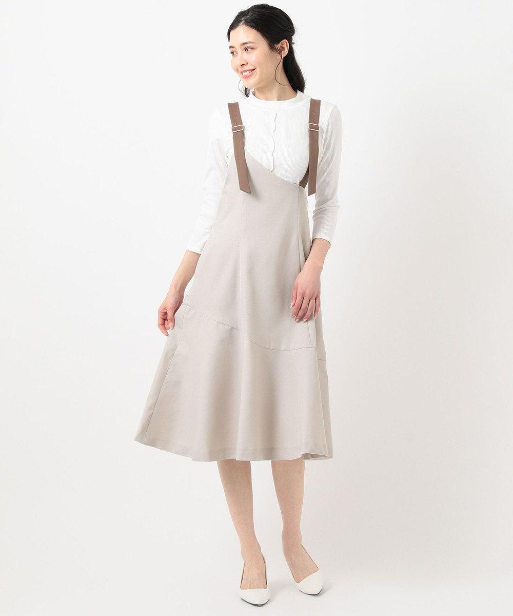 Feroux 【美人百花5月号掲載】ワンショルジャンスカセット ワンピース ミルクティー