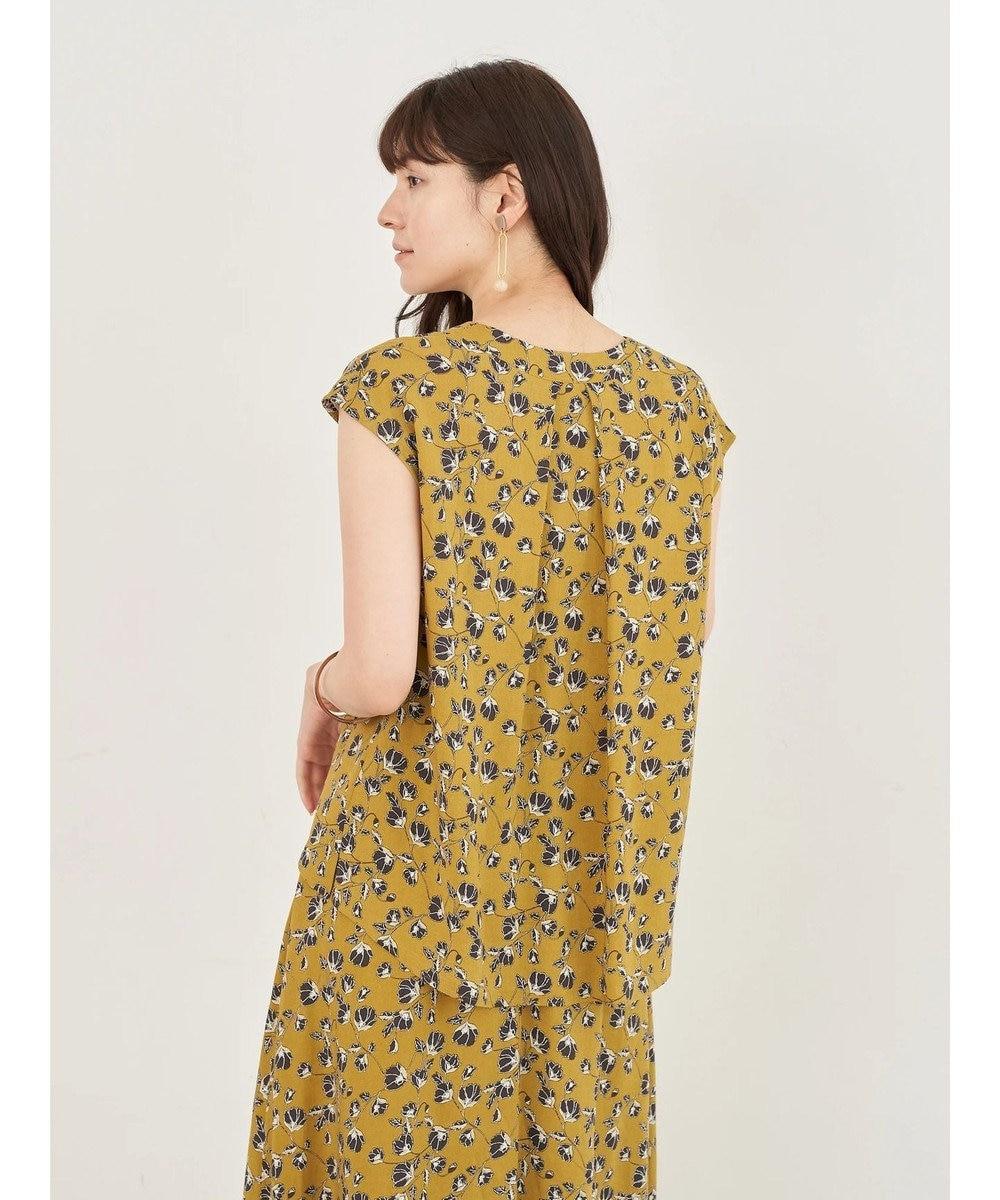 YECCA VECCA 花柄Vネックブラウス Mustard