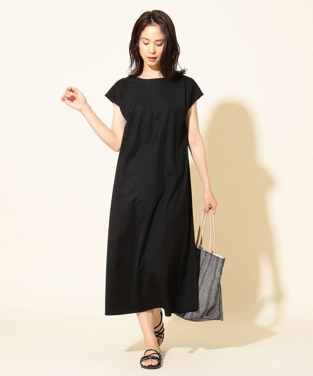 any FAM 【優木まおみ着用】ワッシャーリラックス ワンピース ブラック系