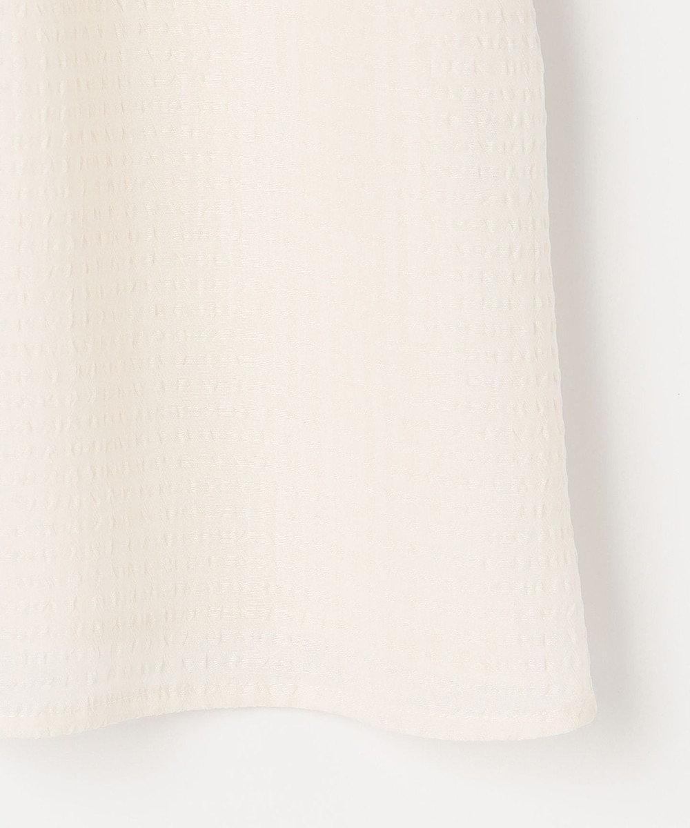 any SiS 【2WAY】シャーリングネックシアー ブラウス アイボリー系