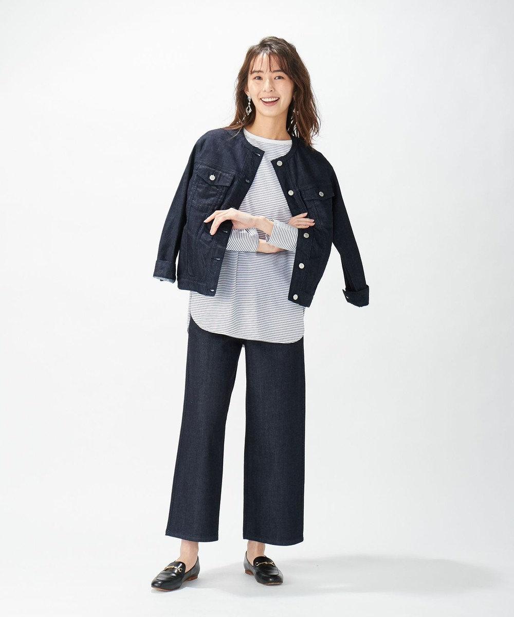 J.PRESS LADIES S 【洗える】8.5oz Stretch Denim デニムジャケット ネイビー系