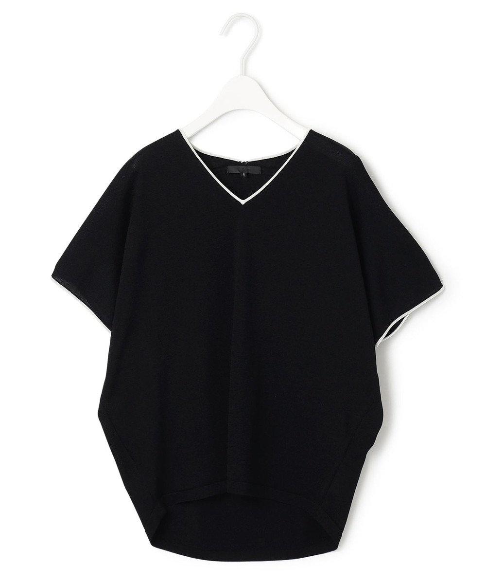 ICB 【WEB限定カラーあり】Synthetic Yarn 半袖 ニット ブラック系