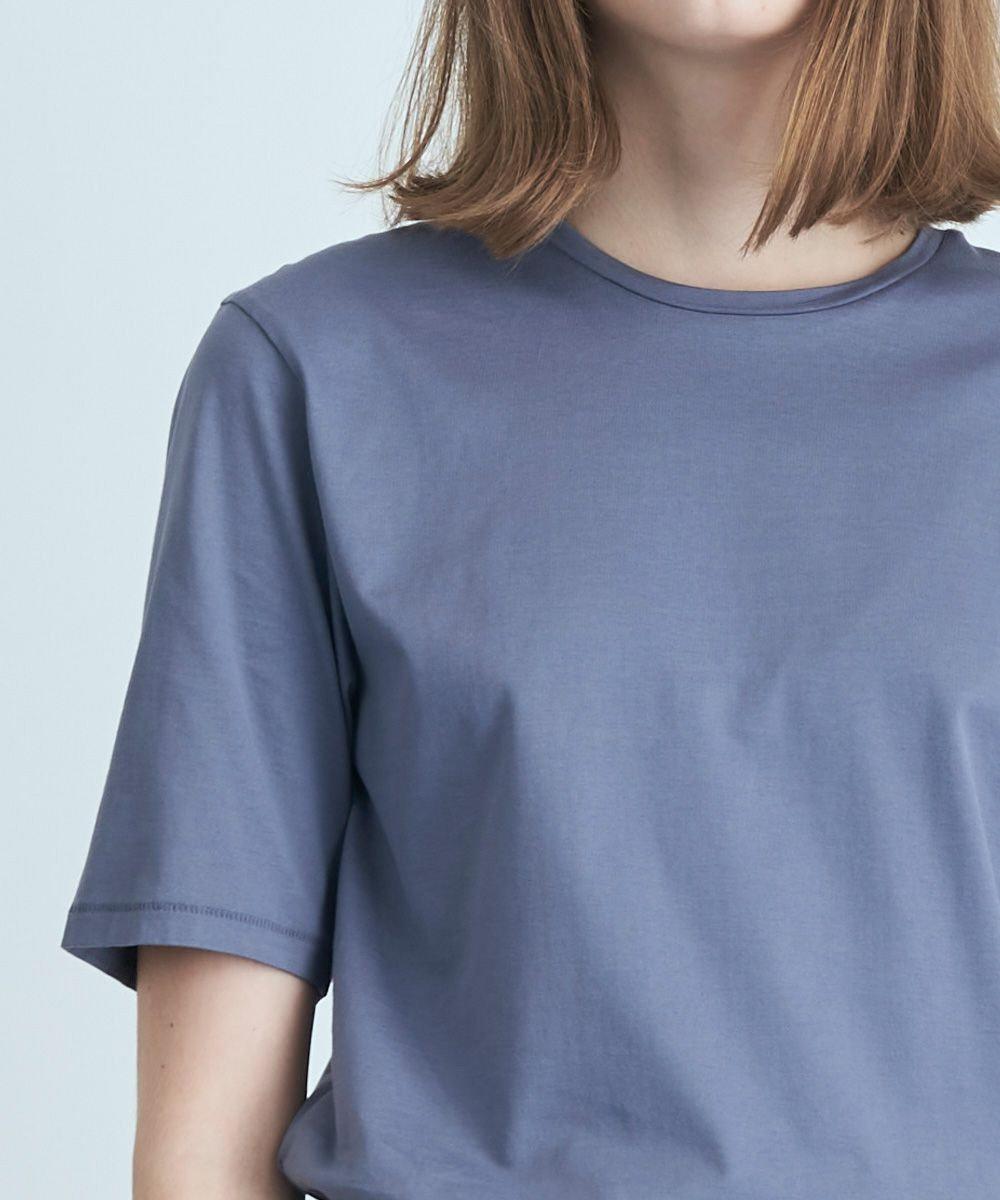 ATON SUVIN 60/2 | パーフェクトショートTシャツ BLUE