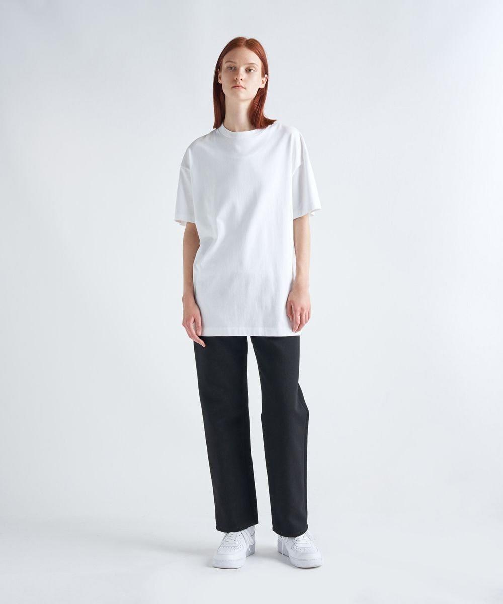ATON SUVIN AIR SPINNING | オーバーサイズTシャツ - UNISEX WHITE