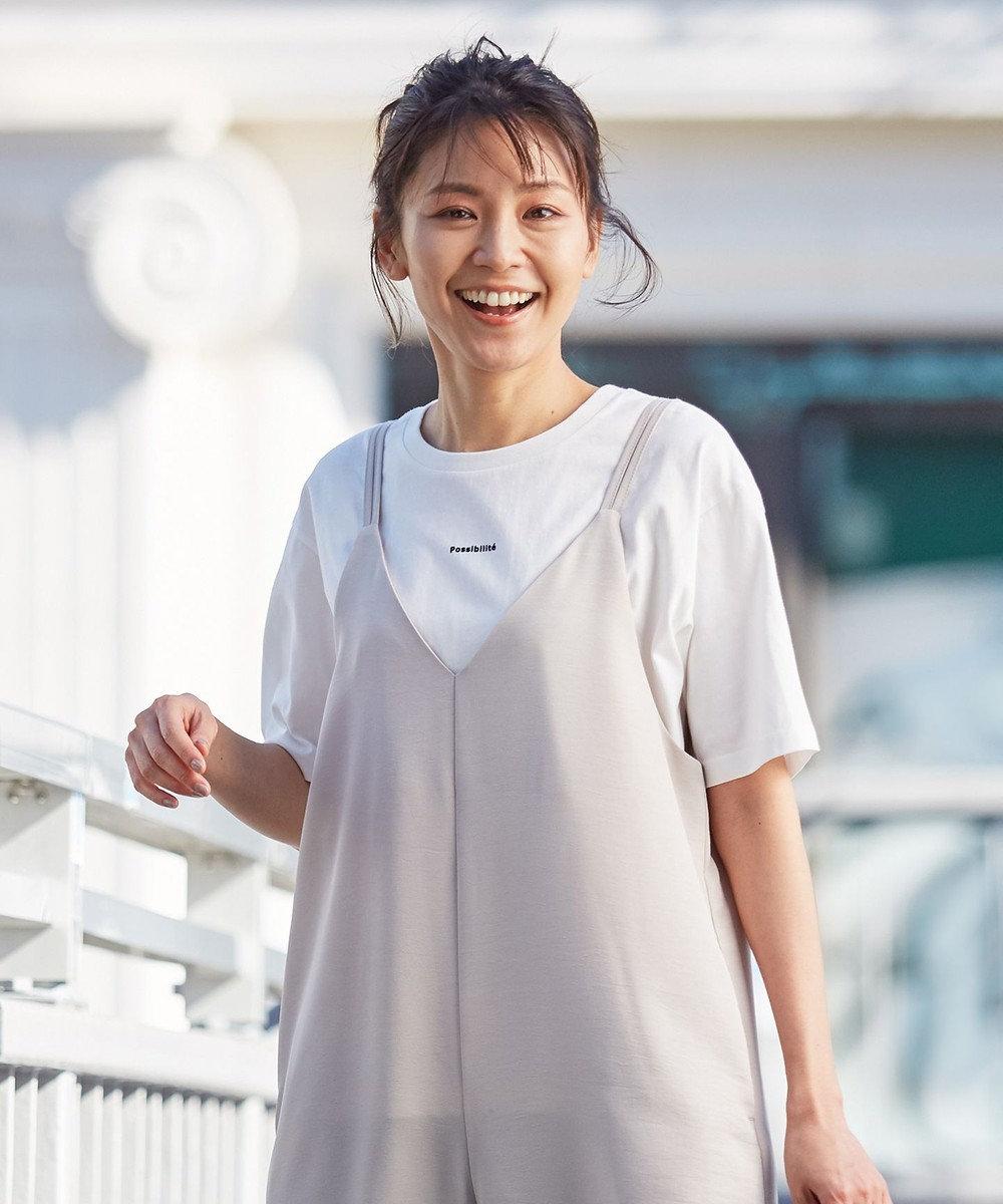 any FAM 【オーガニックコットン】オーガビッツロゴ Tシャツ アイボリー系