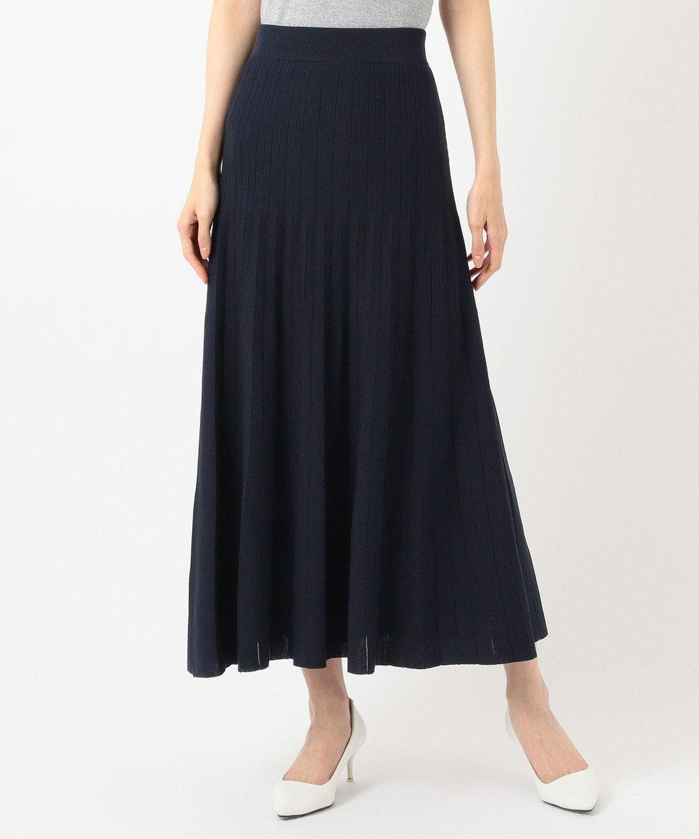 組曲 S 【セットアップ対応】ライトニットアップ ニットスカート ネイビー系