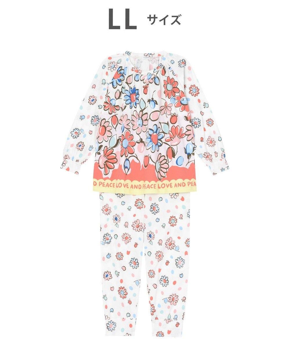 tsumori chisato SLEEP パジャマ ロング袖ロングパンツ 花柄 /ワコール UDO158 ピンク