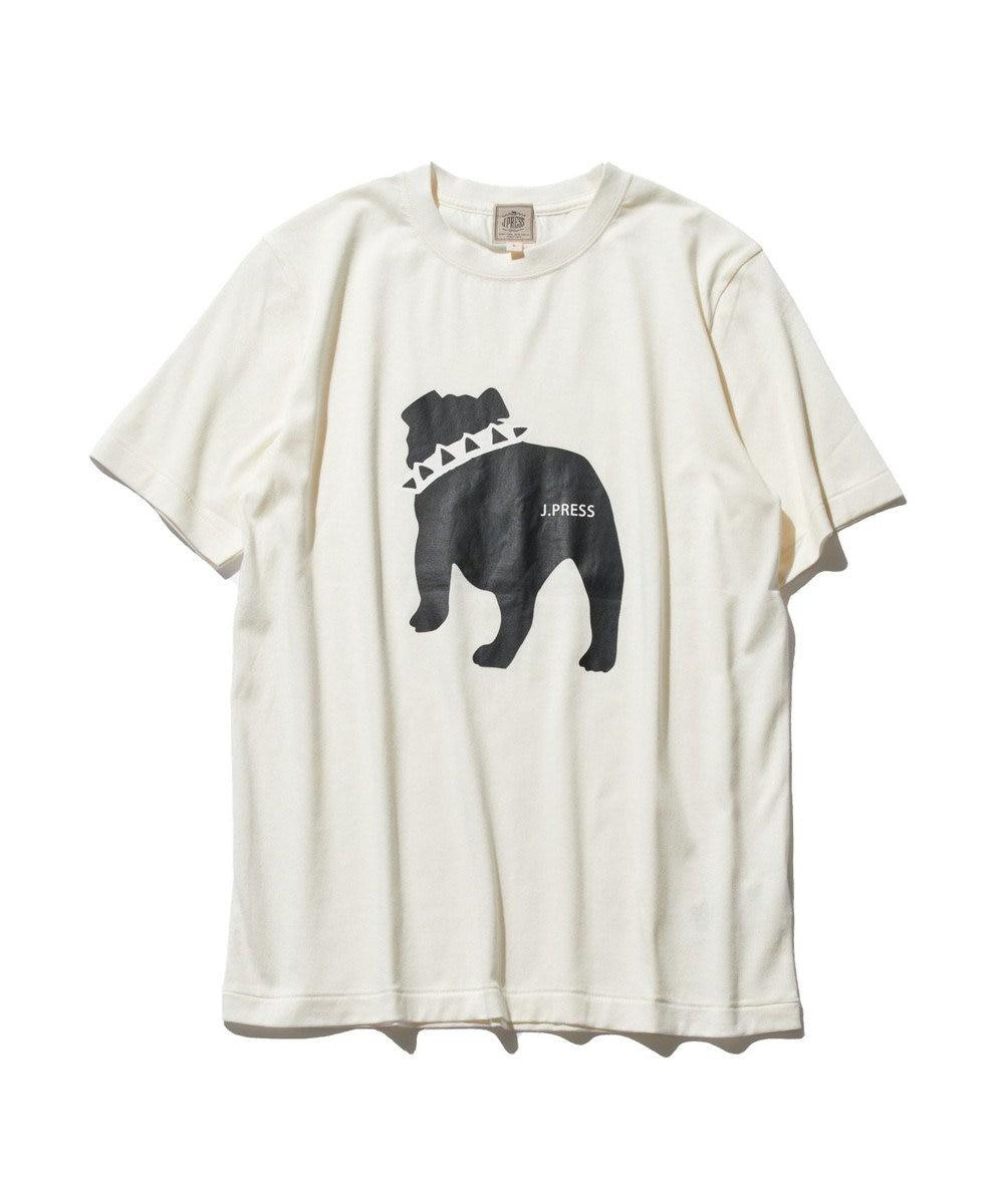 J.PRESS MEN 【WEB限定カラー&サイズ有】【UNISEX】バックブルドック Tシャツ ホワイト系