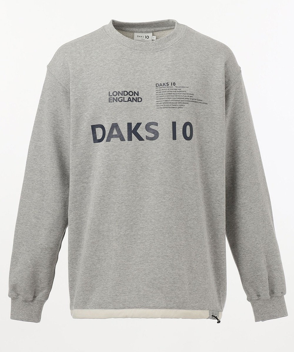 DAKS 【DAKS10】ロゴスウェット カットソー ライトグレー系