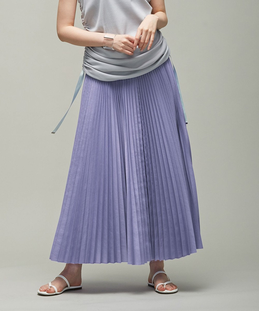 ICB 【マガジン掲載】Waterproof プリーツ スカート(番号CM23) スカイブルー系