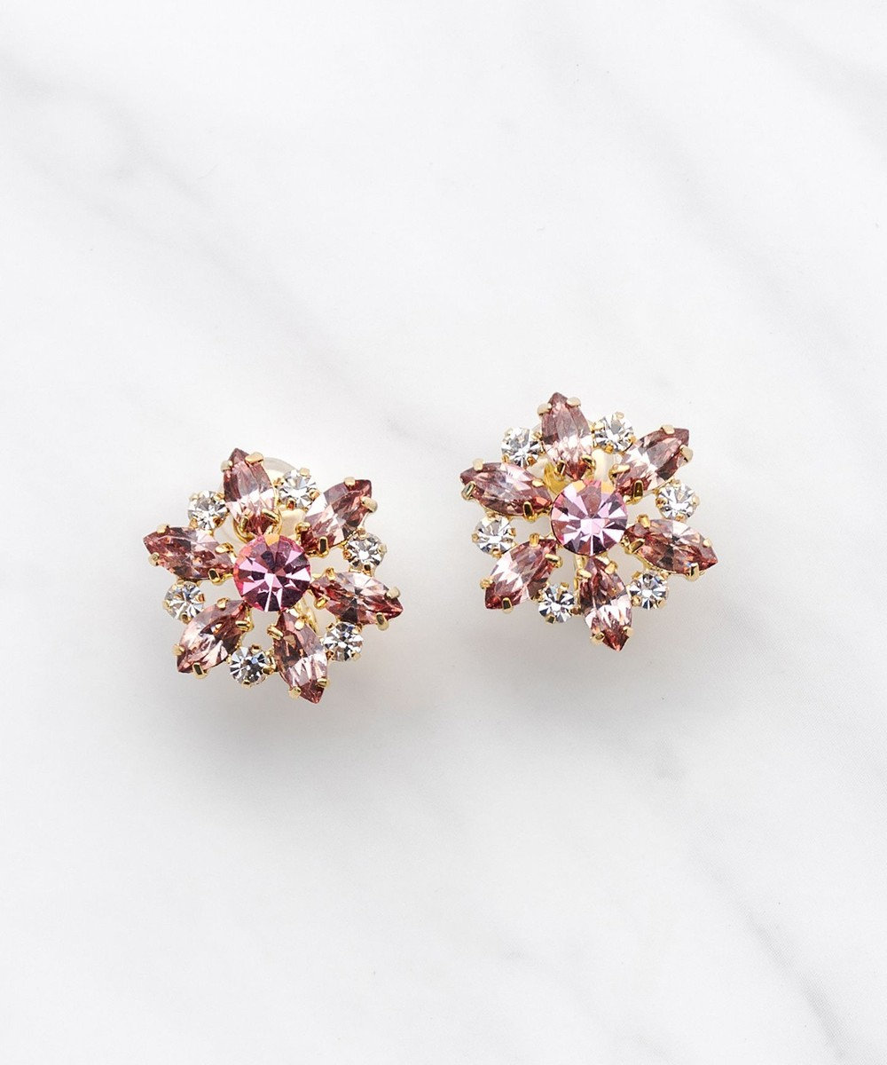 TOCCA NOBLE FLOWER EARRINGS イヤリング ピンク系