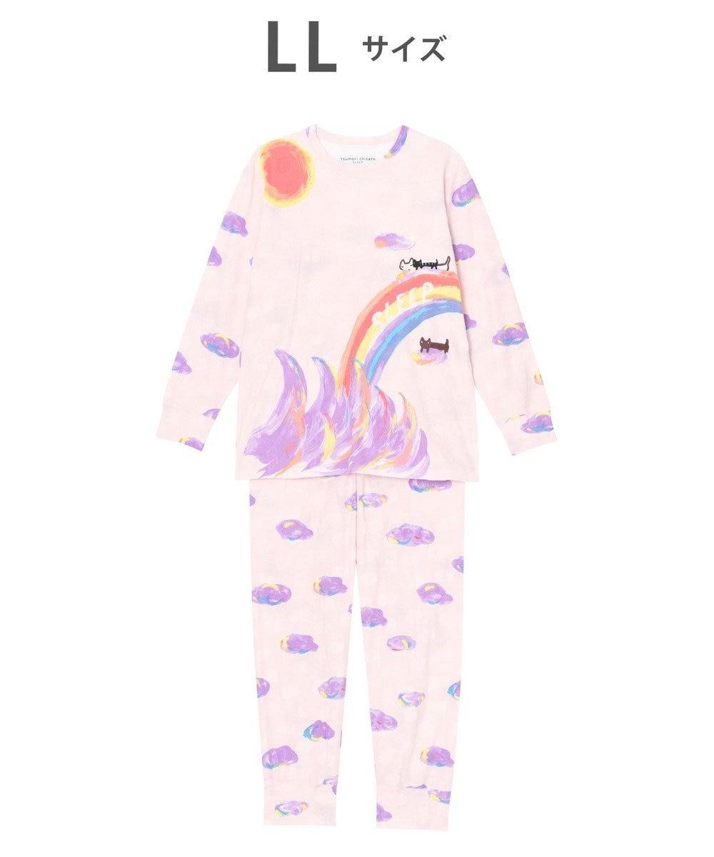 tsumori chisato SLEEP パジャマ ロング袖ロングパンツ 雲柄 /ワコール UDO155 ピンク