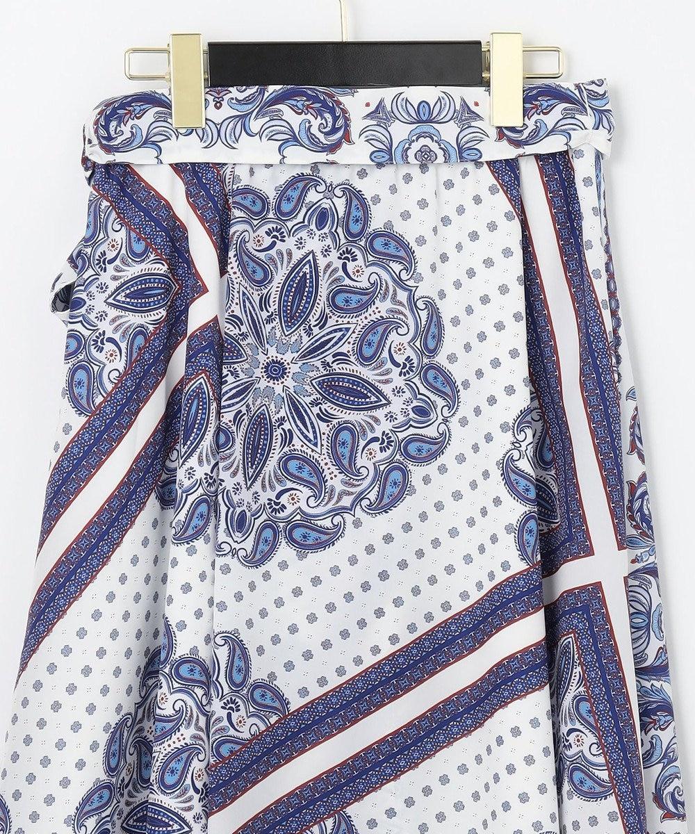 GRACE CONTINENTAL エスニックパターンスカート ブルー