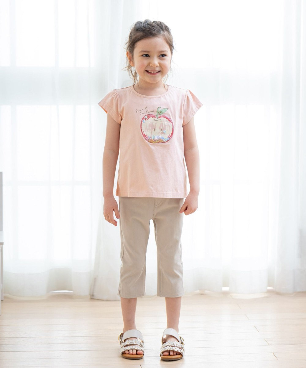 any FAM KIDS シャラシャラビーズ Tシャツ ピンク(リンゴ)