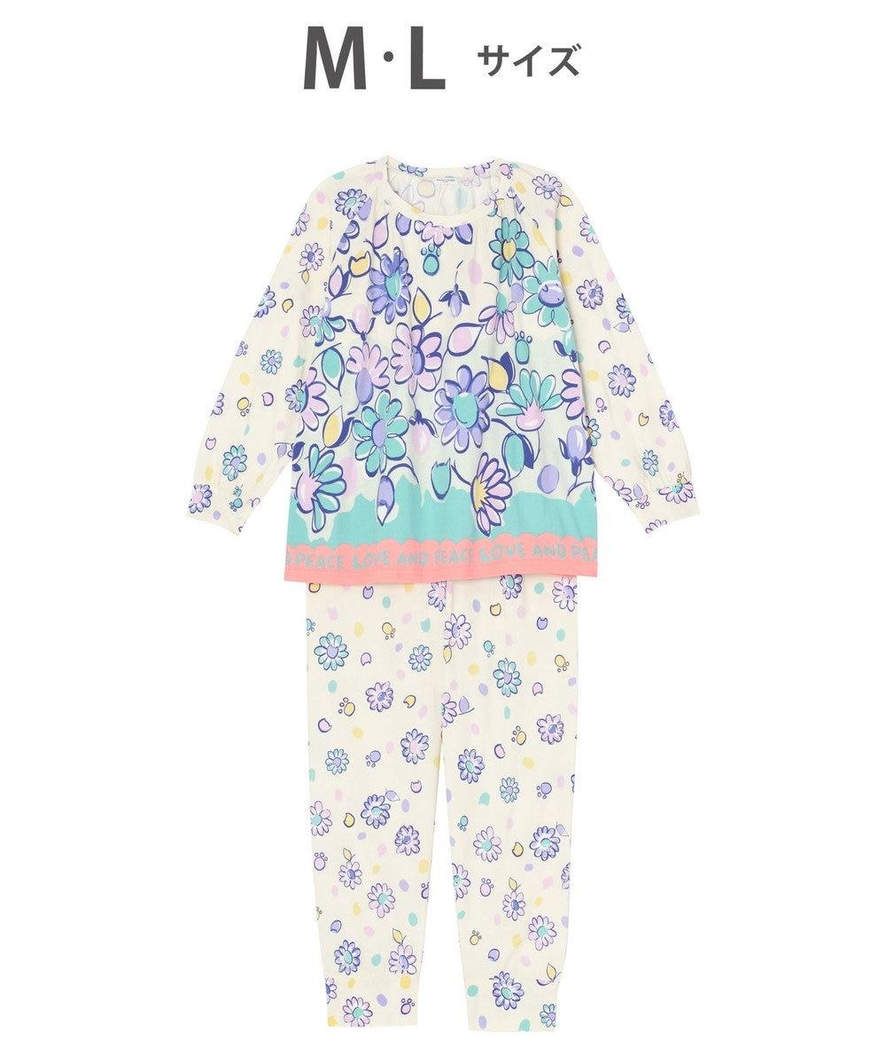 tsumori chisato SLEEP パジャマ ロング袖ロングパンツ 花柄 /ワコール UDO158 クリーム