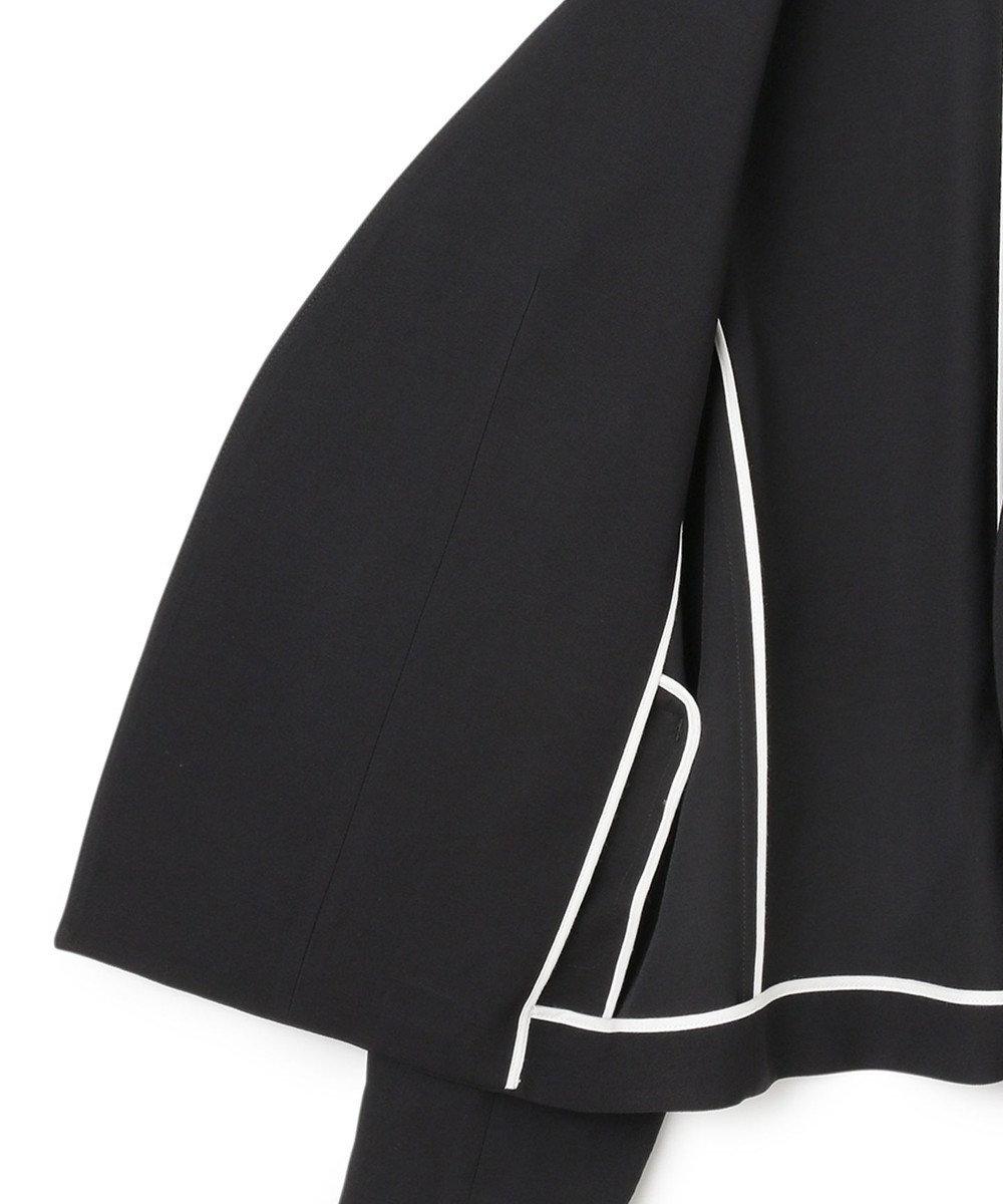 ICB 【マガジン掲載】Crumple ノーカラージャケット(番号CH23) ブラック系