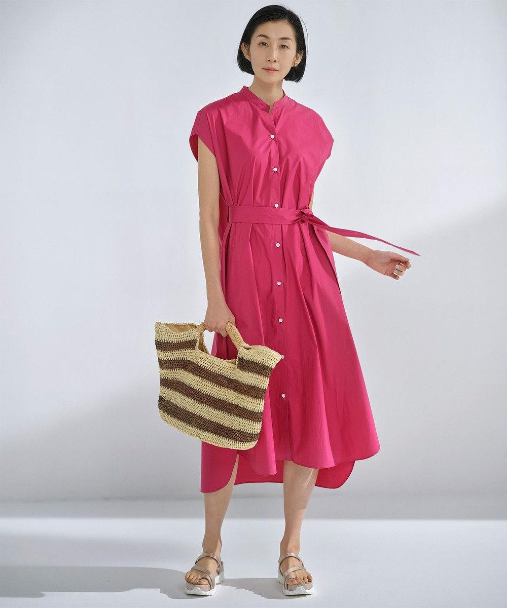 自由区 L 【丈が選べる!】カスタマイズ シャツワンピース 120cm ピンク