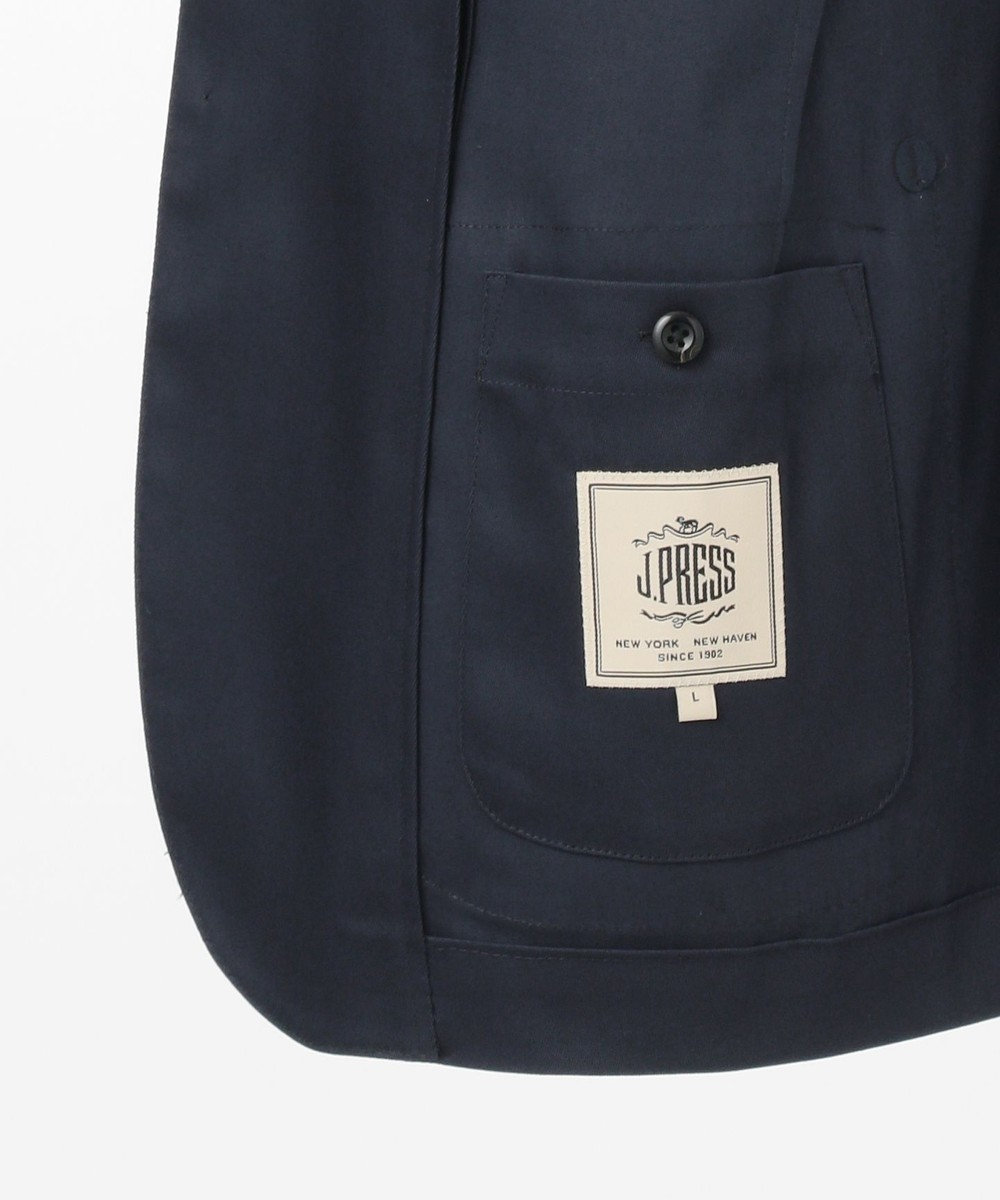 J.PRESS MEN 【LARUSMIANI】ハイデンシティ ストレッチツイル ジャケット ネイビー系