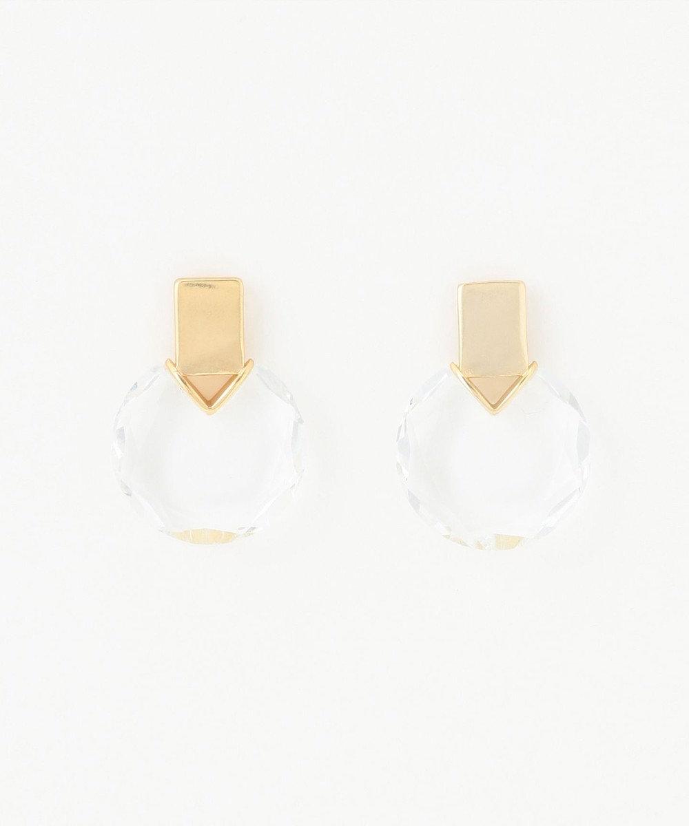 ICB 【マガジン掲載】Glass ピアス(番号CF54) ゴールド系