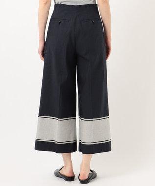 JOSEPH 【 柚香 光さん着用・洗える】マロックストライプ パンツ ネイビー系1