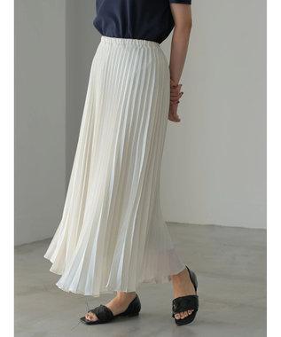 AMERICAN HOLIC ラメプリーツスカート Off White