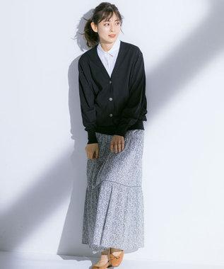 23区 L 【中村アンさん着用】Rattiフラワープリントギャザースカート(番号2H24) グレー系