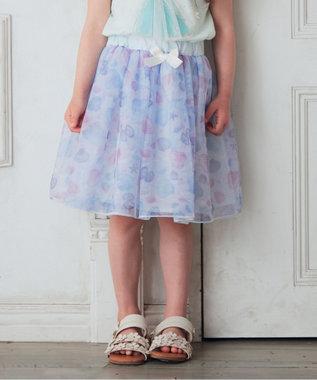 チュールプリントスカート