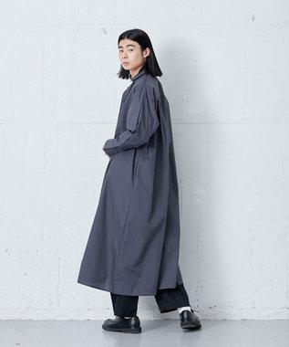 ONWARD Design Diversity 【IIQUAL】ロングシャツドレス ネイビー系