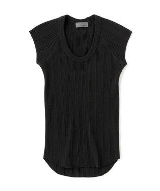 ランダムリブUネック Tシャツ