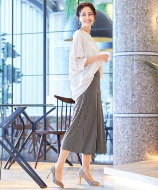Tiaclasse 【日本製・リラックス】快適な着心地のノビテックフレアワイドパンツ モカ