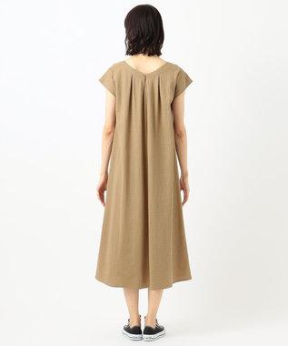 any FAM 【優木まおみ着用】ワッシャーリラックス ワンピース ブラウン系