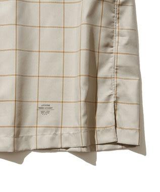 J.PRESS YORK STREET 【UNISEX】ツイルチェック オープンカラーシャツ ベージュ系1