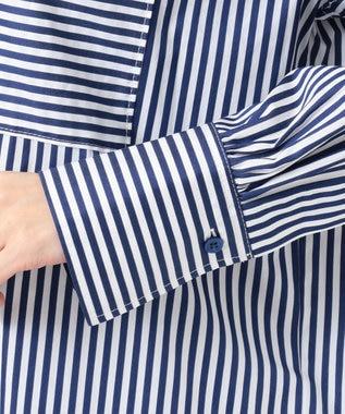 Paul Smith 【WEB限定カラーあり・洗える】PSエンブロイダリーシャツ ワンピース STRIPE BLUE