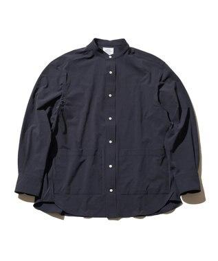 J.PRESS YORK STREET 【UNISEX】NYウェザー バンドカラーシャツ ネイビー系