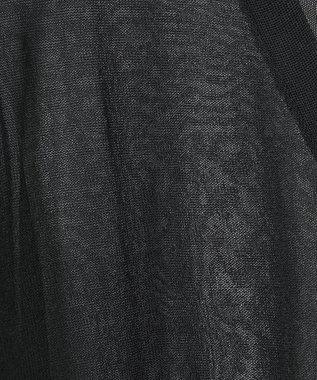 GRACE CONTINENTAL シアーショートカーディガン ブラック