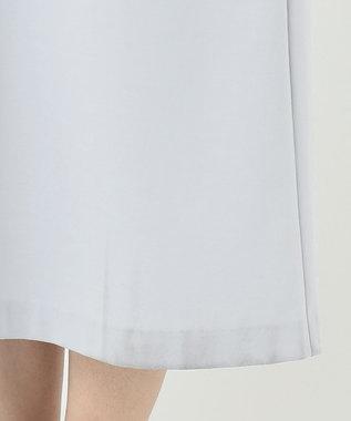 組曲 S 【洗える】ハイストレッチポンチ ジャンパースカート ワンピース サックスブルー系