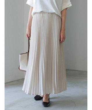 AMERICAN HOLIC ラメプリーツスカート Pink Beige