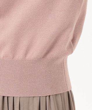 any SiS 【洗える】2WAYボウタイニット×サテン スカート ピンク×モカ